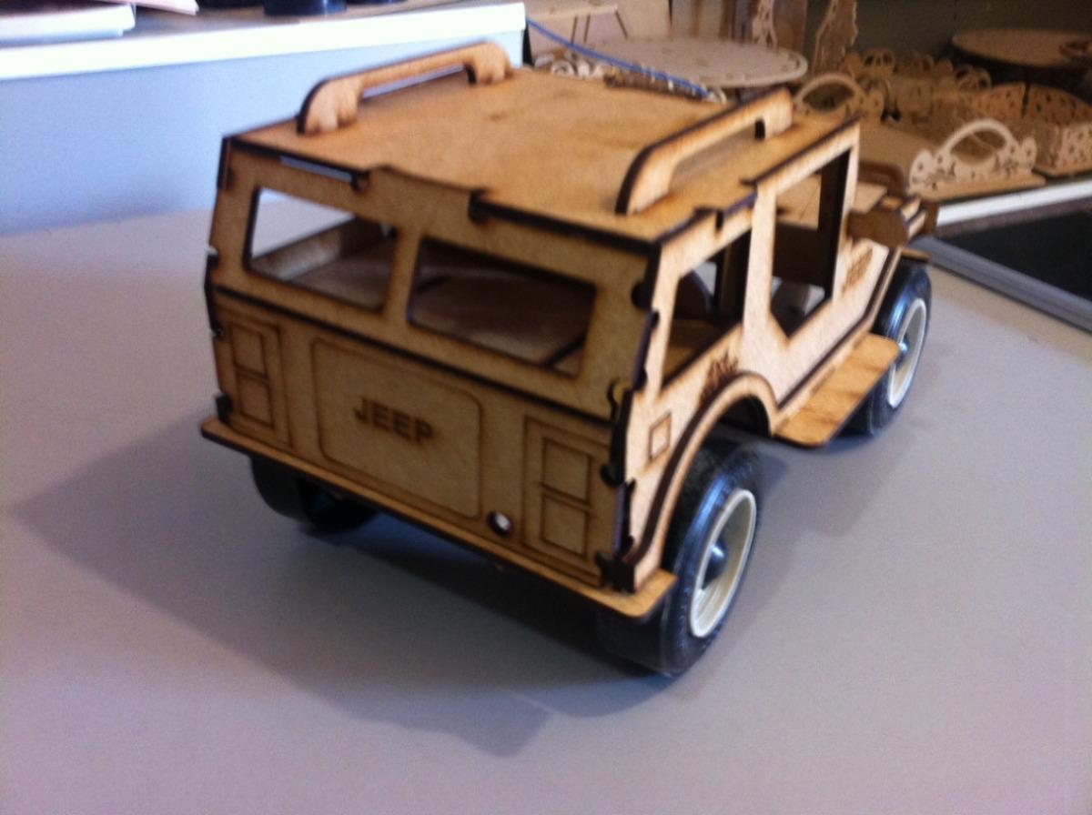 Jeep Feito Em Mdf Brinquedo Carrinho Corte Laser R$ 33 00 no  #214EAA 1200x896