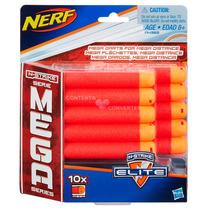 Refil Com 10 Mega Dardos Para Série Nerf Mega Hasbro