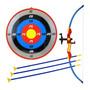 Kit Arco Flecha Mira Laser Arqueiro Alvo Infantil Bel 490500