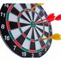 Jogo 6 Dardos Tabuleiro Alvo Dupla Face 42cm G006