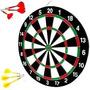 Jogo De Dardos Fwb Com Alvo Duplo 15 - 37 Cm Com 6 Dardos