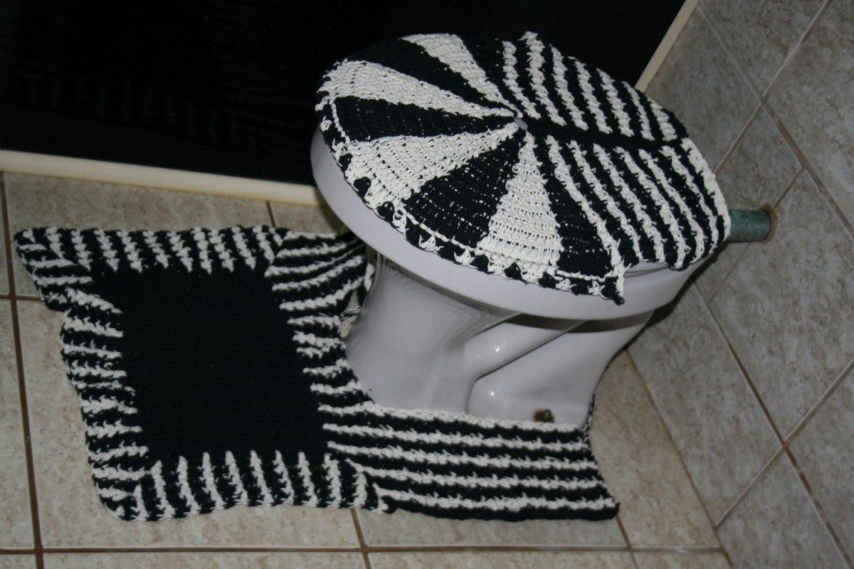 Jogo De Banheiro Em Crochê De Barbante Feito A Mão R$ 125 00 no  #585147 1200 800