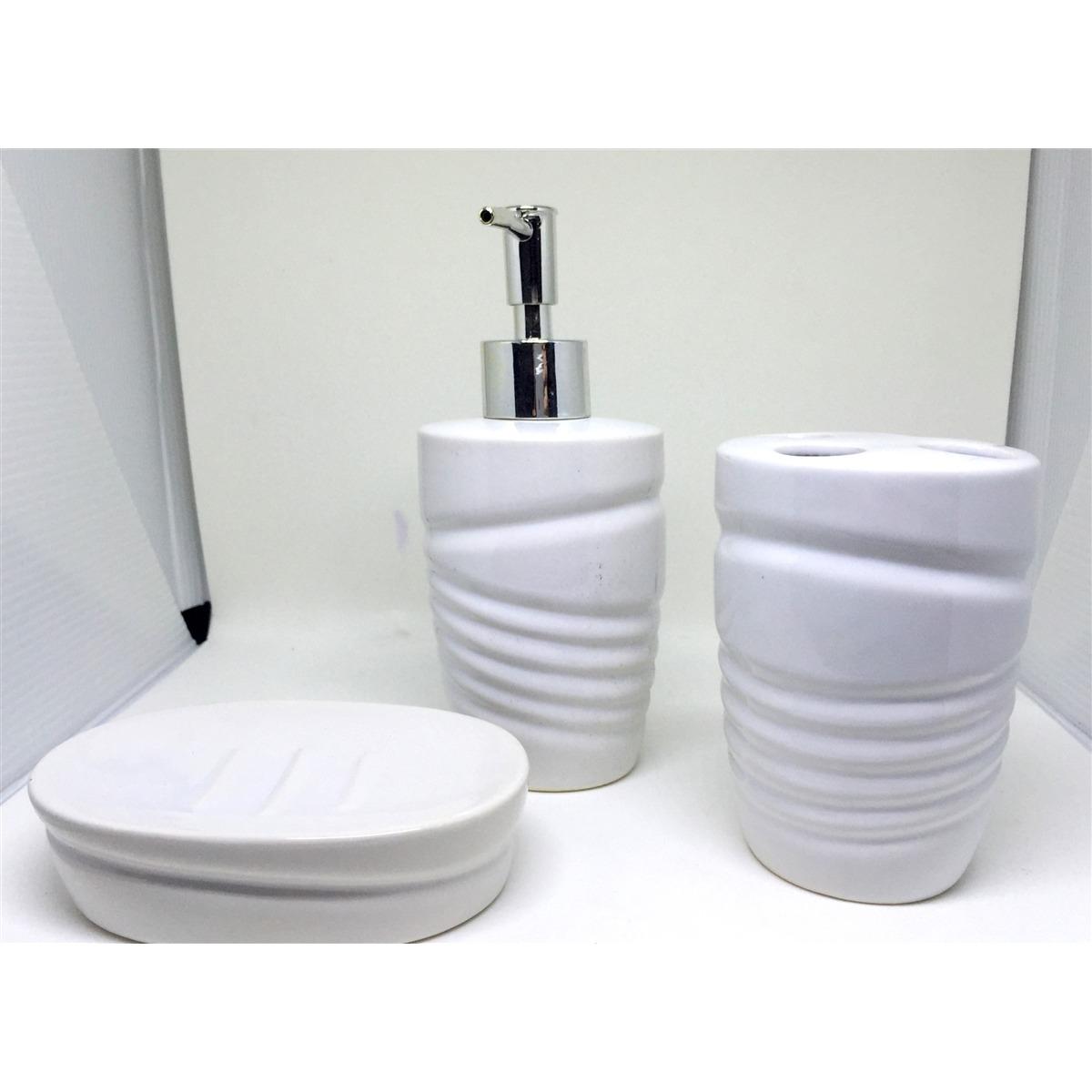 Jogo De Banheiro Lavabo De Porcelana Completo Saboneteira Es R$ 39  #17171D 1200 1200