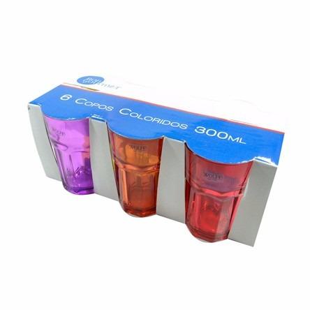 Jogo de copos de vidro para agua