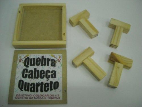 Jogo De Desafio Quarteto , Encaixe Os 4 Ts Dentro Da Caixa!