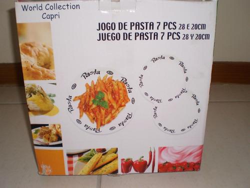 Jogo De Pratos Para Pasta - 7 Peças