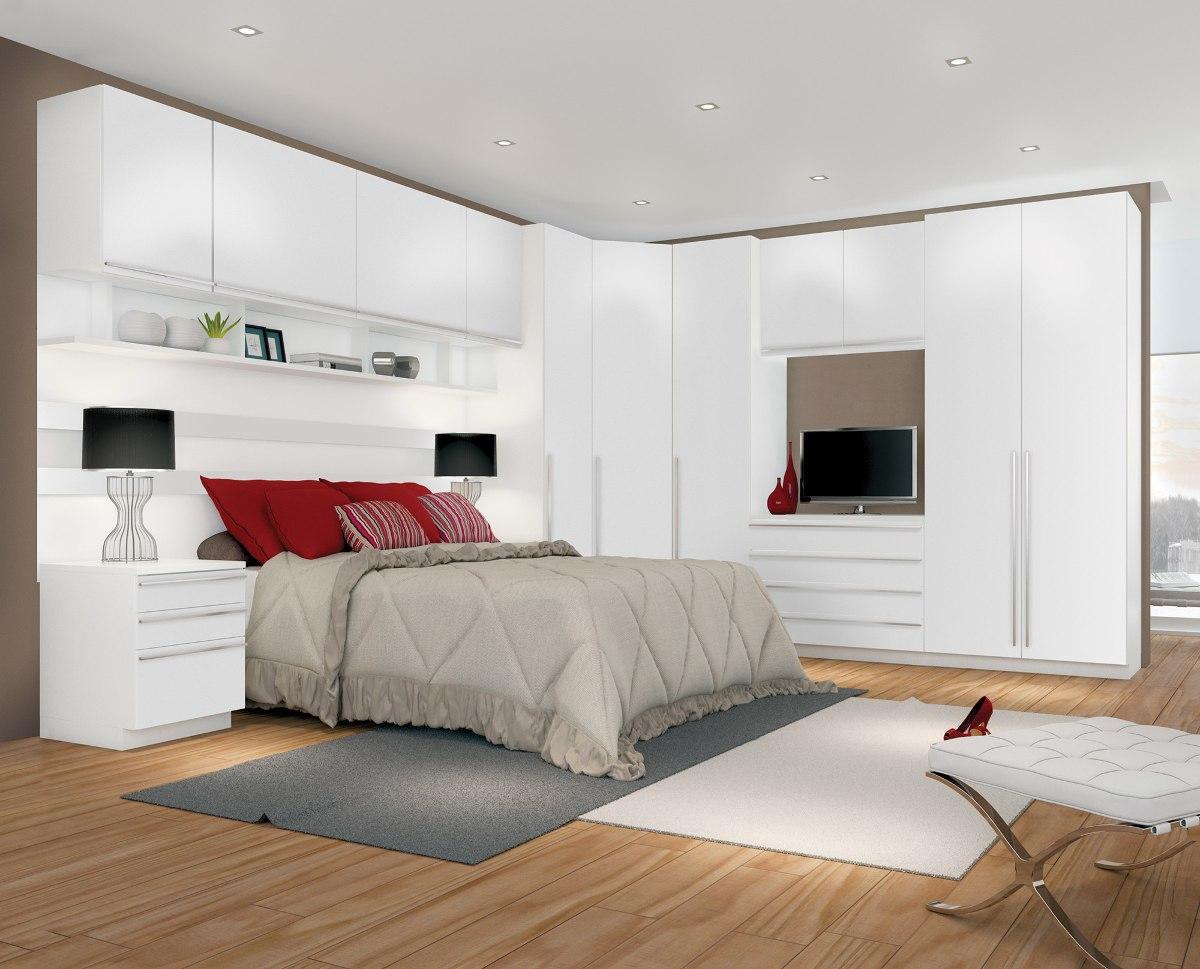 jogo de quarto dormit rio casal modulado 100 mdf luxo