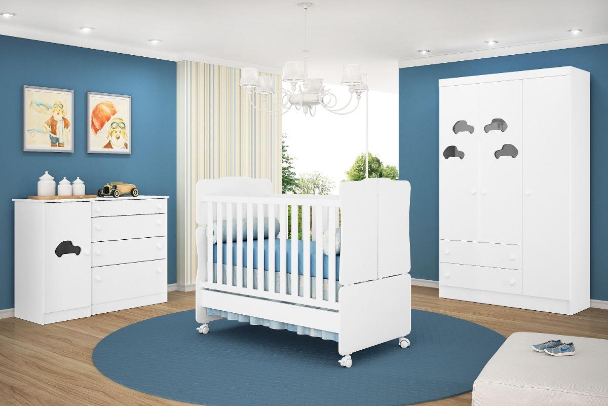 Jogo De Quarto Infantil Bebê Amore R$ 1 987,30 no