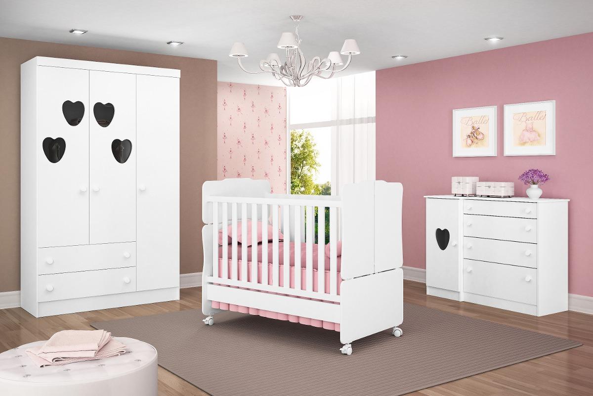 Jogo De Quarto Infantil Bebê Amore R$ 1 987,30 no  ~ Ver Jogo De Quarto Infantil