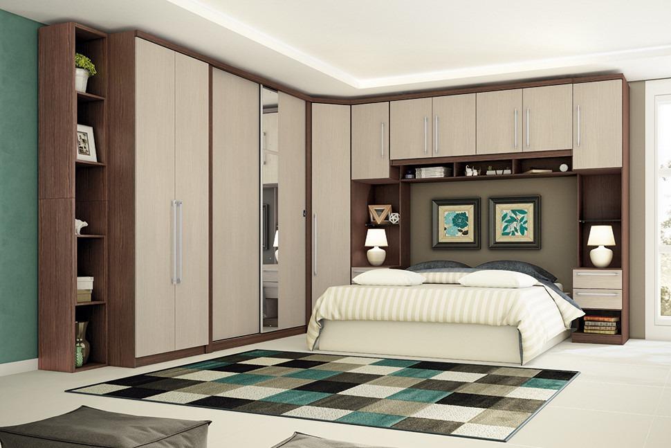 Armario De Quarto Casal Modulado : Jogo de quarto modulado casal criative pe?as cama