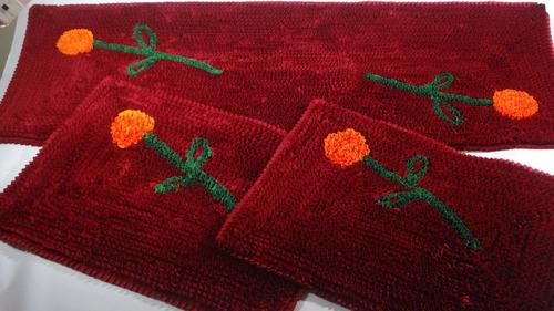 decoracao tapete cozinha : decoracao tapete cozinha:Jogo De Tapetes De Malha Frufru-cozinha-decoração – R$ 138,00 no