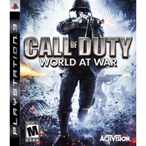 Jogo Call Of Duty World At War Ps3 Midia Fisic Lacrad Nota F