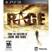 Rage - Ps3 - Novo - Lacrado - Em Leilão - Imperdível