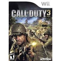 Call Of Duty 3 Nintendo Wii Original Lacrado Frete R$ 10,00
