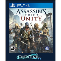Assassins Creed Unity Pré-venda 28/10 Ps4 Código Psn