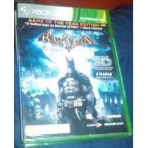 Batman Arkham Asylum Goty Lacrado Xbox 360 Venda / Troca
