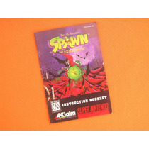 Manual Spawn The Video Game - Snes - Original - 1995