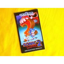 Manual Sonic 2 - Genesis - 1992 - Original