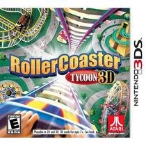 Rollercoaster Tycoon 3d | Nintendo 3ds | Novo E Lacrado