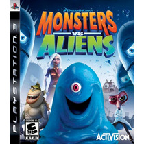 Game Ps3 Monsters Vs Aliens - Playstation 3