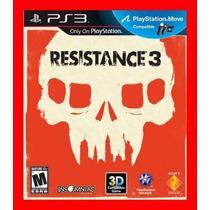Jogo Resistance 3 - Compativel Com Ps Move Ps3 Playstation 3