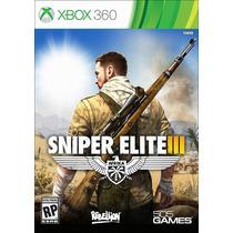 Sniper Elite Iii. 3. Em Português. Novo. Xbox 360