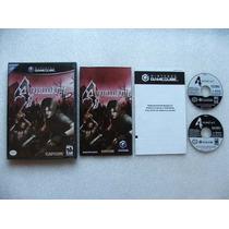 Game Cube: Resident Evil 4 Americano Completo!! Raridade!!