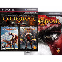 God Of War Collection 1 E 2 + God Of War 3 (3 Jogos )
