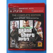 Gta Grand Theft Auto Iv 4: Complete Edition - Ps3 - Lacrado.