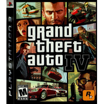 Gta 4 Grand Theft Auto Iv Ps3 Psn Midia Digital Original