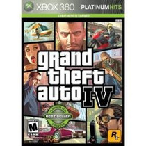 Jogo Semi Novo Grand Theft Auto Gta Iv Platinum Xbox 360