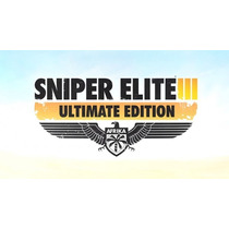 Sniper Elite 3 Ultimate Edition Ps3 Codigo Psn Midia Digital