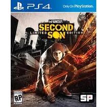 Infamous Second Son Limited Edition - Ps4 + 6 Dlcs Pré Order