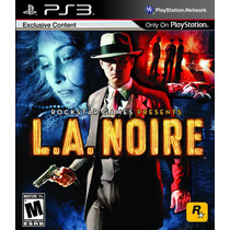 La Noire P/ Playstation 3 Ps3 Midia Fisica Frete R$7,00