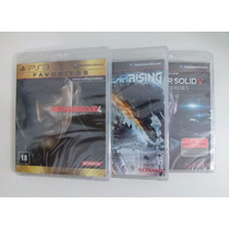 Metal Gear Solid 4 + Metal Rising + Metal Gear Solid 5 - Ps3
