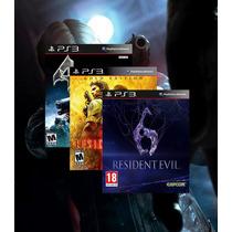 Combo Resident Evil 4 + 5 Gold Edition + 6 Ps3 Código Psn