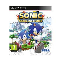 Sonic Generations Jogo Infantil Playstation 3 - 3d