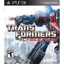 Jogo Lançamento Transformers War For Cybertron Para Ps3
