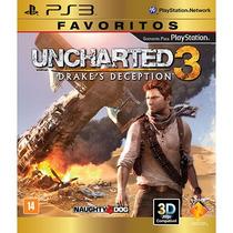 Jogo Uncharted 3 - Ps3 Midia Fisica Lacrada Nota Fiscal