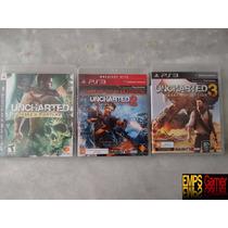 Trilogia Uncharted Trilogia Uncharted 1 , 2 , 3 Seminovos