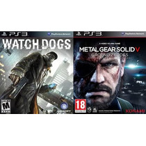 Watch Dogs Ps3 Pt Br + Metal Gear 5 Solid 5 Código Psn