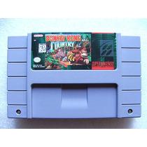 Super Nes: Donkey Kong Country Original Americano! Garantia!