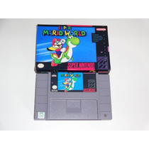 Super Mario World Original Salvando Com Mini Caixa Inclusa!!