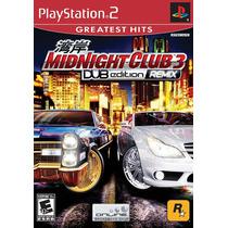 Dvd Original Ps2 Midnight Club 3 Dub Edition Remix Lacrado.