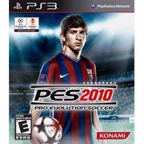 Pes 2010 Pro Evolution Soccer - Jogo Ps3 Mídia Física