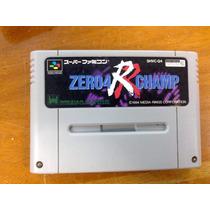 Fita De Super Nintendo Original Japonesa Zero 4 Champ Rr