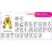 Carimbo Educativo Pedagogico Alfabeto Ilustrado 28 Peças
