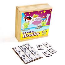 Brinquedo Jogo De Bingo Em Braille Com 60 Peças 1607 - Carlu