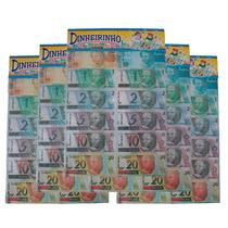 5 Emb. De Mini Dinheiro Dinheirinho Brinquedo C/66 Cada Emb