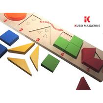 Formas Geometricas Fraçoes Jogo Educativo Pedagogico Madeira